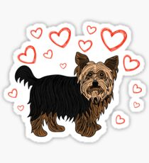 Yorkshire terrier is my Valentine Valentines Day Gifts Cute Valentine's Dog Animal Spirit Heart Funny V-day Puppy  T-Shirt Sweater Hoodie Iphone Samsung Phone Case Coffee Mug Tablet Case Gift Sticker