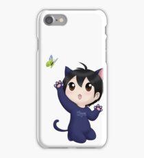 Yuzuru Hanyu chibi kitty iPhone Case/Skin