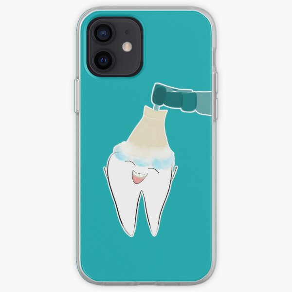 Feliz limpieza dental Funda blanda para iPhone