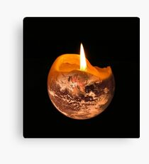 Candle Earth Canvas Print