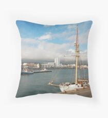 HMS Falken Throw Pillow