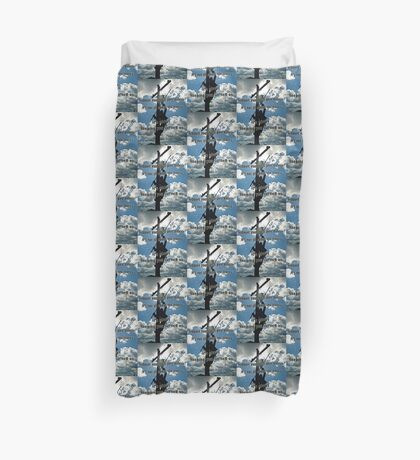 Support your Lineman Duvet Cover