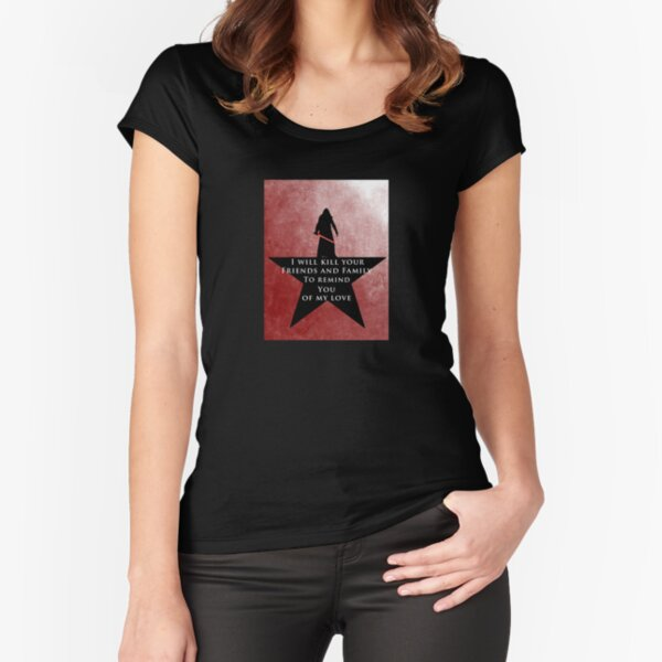 Star Wars - Hamilton Mashup: Kylo Ren (King George Quote) Fitted Scoop T-Shirt