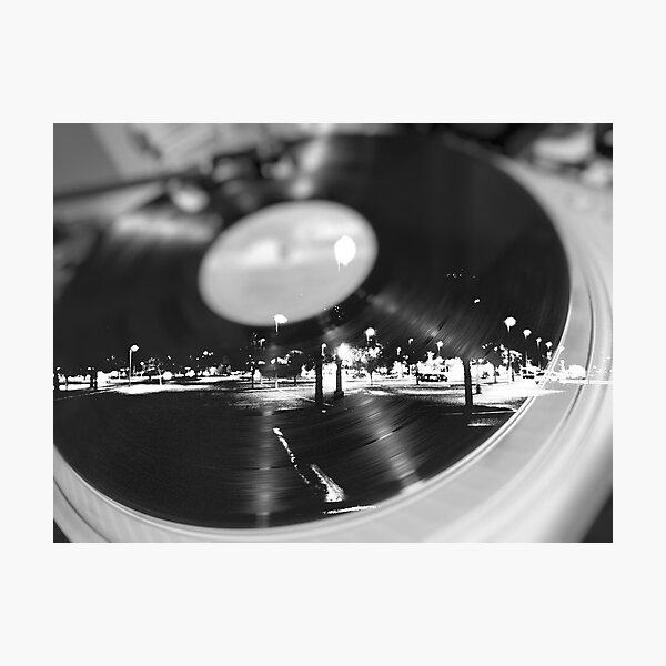 Music Record Night  Photographic Print