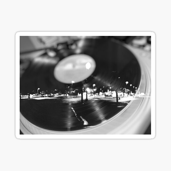 Music Record Night  Sticker