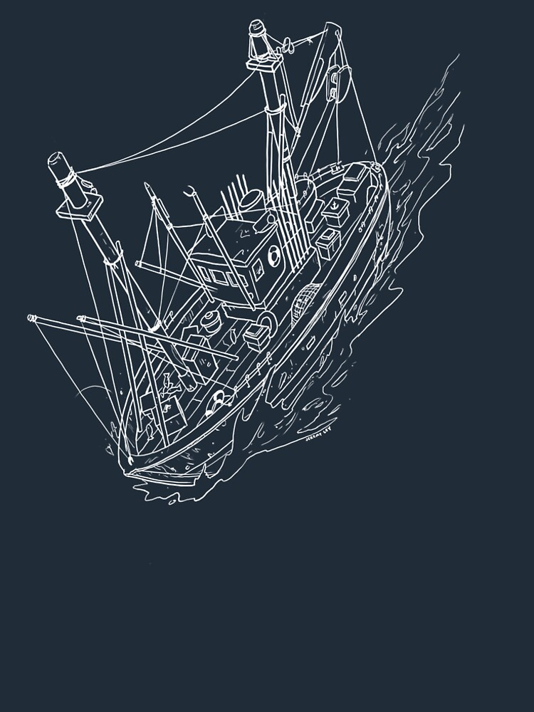 Fishing Boat Drawing by JeremyLey