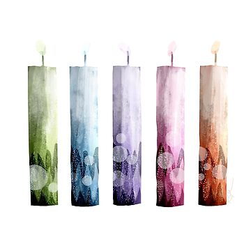 Rainbow Candles by karin