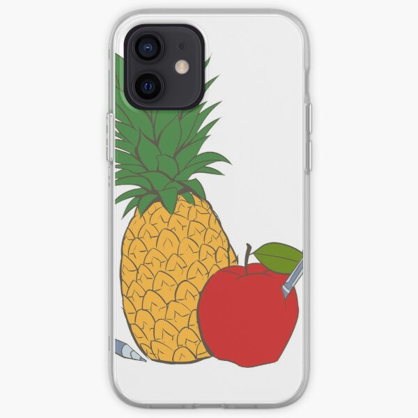 Pens Pineapple and Apple iPhone Soft Case
