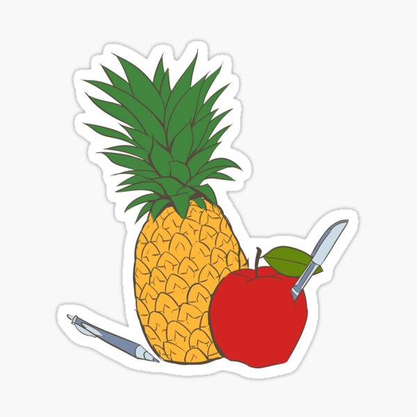 Pens Pineapple and Apple Sticker