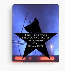 Star Wars - Hamilton Mashup: Darth Vader Canvas Print