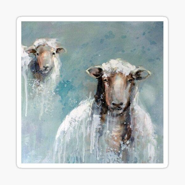 2 Sheep Sticker