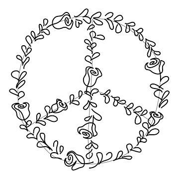 Peace & Flowers by Spncr