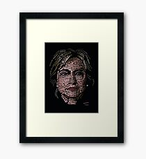 Hillary Clinton: Historic Women Portrait Framed Print