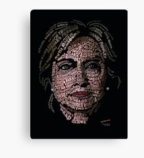Hillary Clinton: Historic Women Portrait Canvas Print
