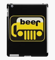 funny drinking beer jeep iPad Case/Skin