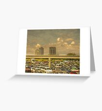 Theme Park Car Park Greeting Card