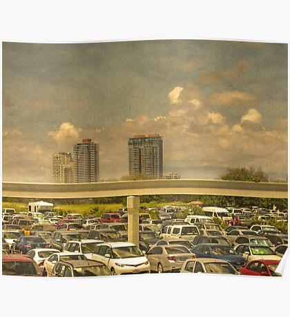 Theme Park Car Park Poster