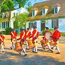 Colonial American Marching Band - Williamsburg VA by Mark Tisdale