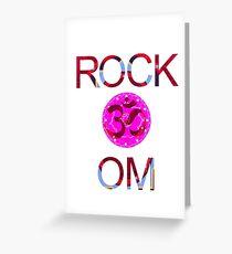 Rock Om Greeting Card