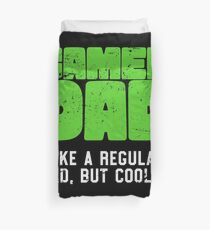 Gamer Dad Like A Regular Dad But Cooler Retro Gaming Duvet Cover