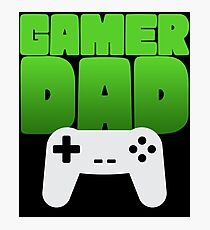 Gamer Dad Funny Retro Console Gaming Photographic Print