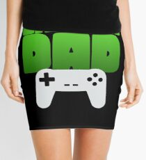 Gamer Dad Funny Retro Console Gaming Mini Skirt