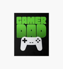 Gamer Dad Funny Retro Console Gaming Art Board