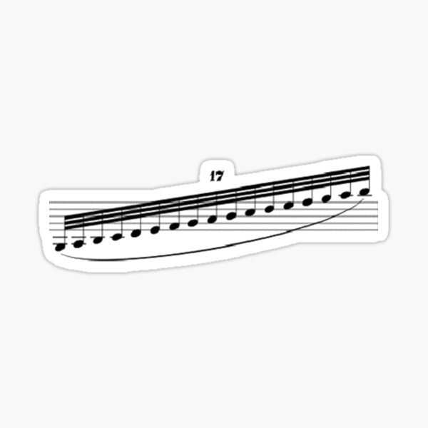 Rhapsody in Blue Clarinet Gliss Sticker