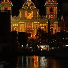 The Church beautifully lit up for the Festa  of San Lawrenz Vittoriosa  by DeborahDinah