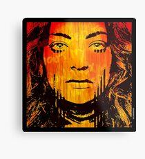 The Girl On Fire Metal Print