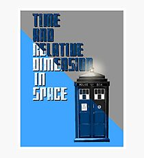 Time And Relative Dimension In Space Photographic Print