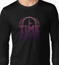 Time Is An Illusion - Time,  Optical, Eyes, Abstract,Illusion, Mocking, Deceptive, Sense, Trick Of Light, Vision, Visual, Hallucination, Games Long Sleeve T-Shirt
