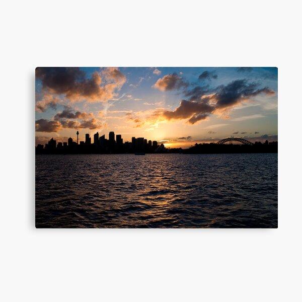Sunset @ Taronga Zoo Wharf Canvas Print