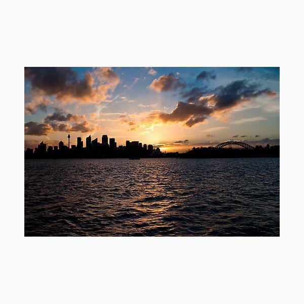 Sunset @ Taronga Zoo Wharf Photographic Print