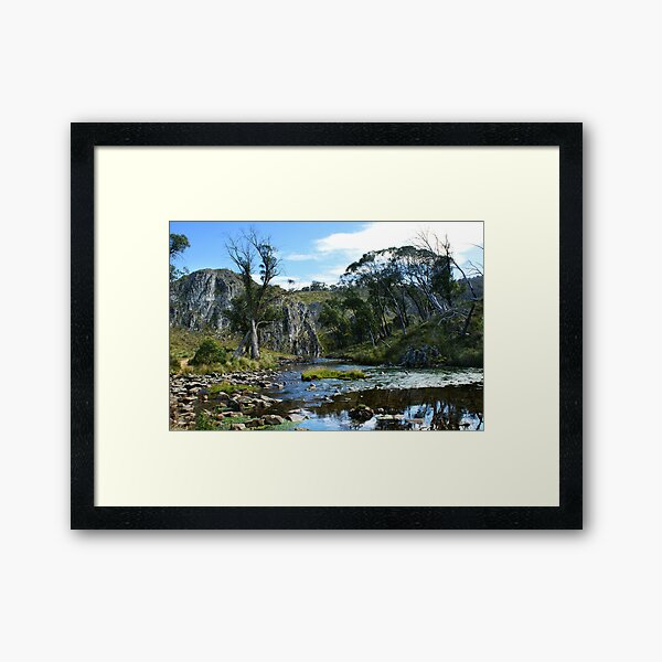 Blue Waterholes Framed Art Print