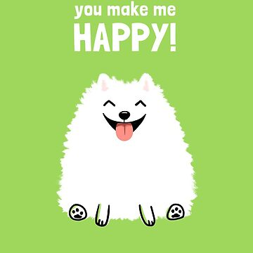 Funny White Pomeranian by ShortCoffee
