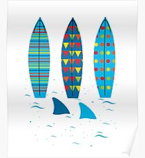Graphic Surfboards - Srufer Poster