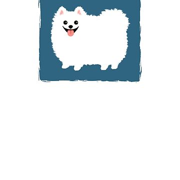 Fluffy White Pomeranian by ShortCoffee