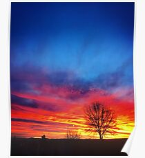 Sunrise in Arizona Poster