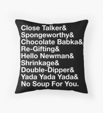SEINFELD - JERRY SEINFELD CATCHPHRASES GEORGE COSTANZA Throw Pillow