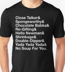 SEINFELD - JERRY SEINFELD CATCHPHRASES GEORGE COSTANZA T-Shirt