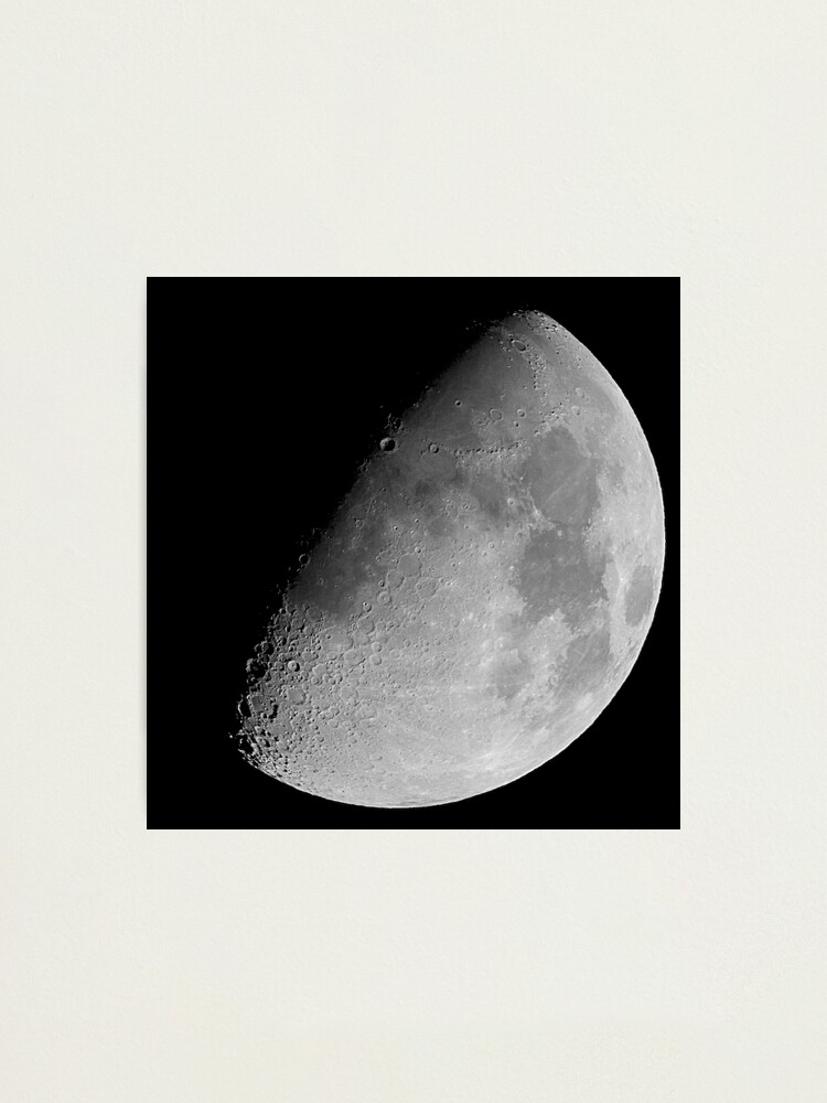 Alternate view of lunar image Photographic Print