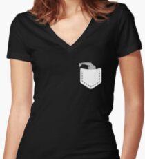 Cute Shirt For Kids/Boys/Girls. Gift For Giraffe Lover. Women's Fitted V-Neck T-Shirt