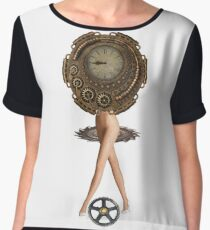 Cyberpunk, Steampunk, Technopunk, Science fiction,  SF, sci-fi,  speculative fiction Chiffon Top