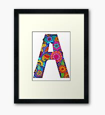 'A' - 'All the Letters of the Rainbow' Framed Print