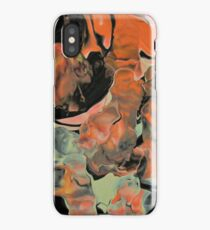 Fall Thoughts - Abstract Acrylic Painting iPhone Case/Skin