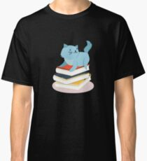Great Shirt For Cat And Book Lover. Gift Ideas For Kids. Classic T-Shirt