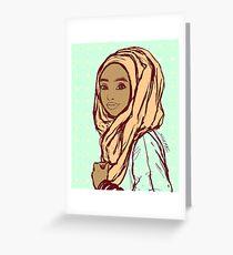 Peach Hijab Greeting Card
