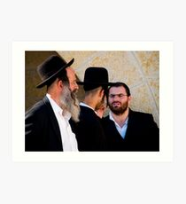 Three Rabbis Art Print