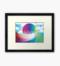 Rainbow moon Framed Print